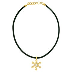 Pamela Froman Sunburst Motif Gold Necklace