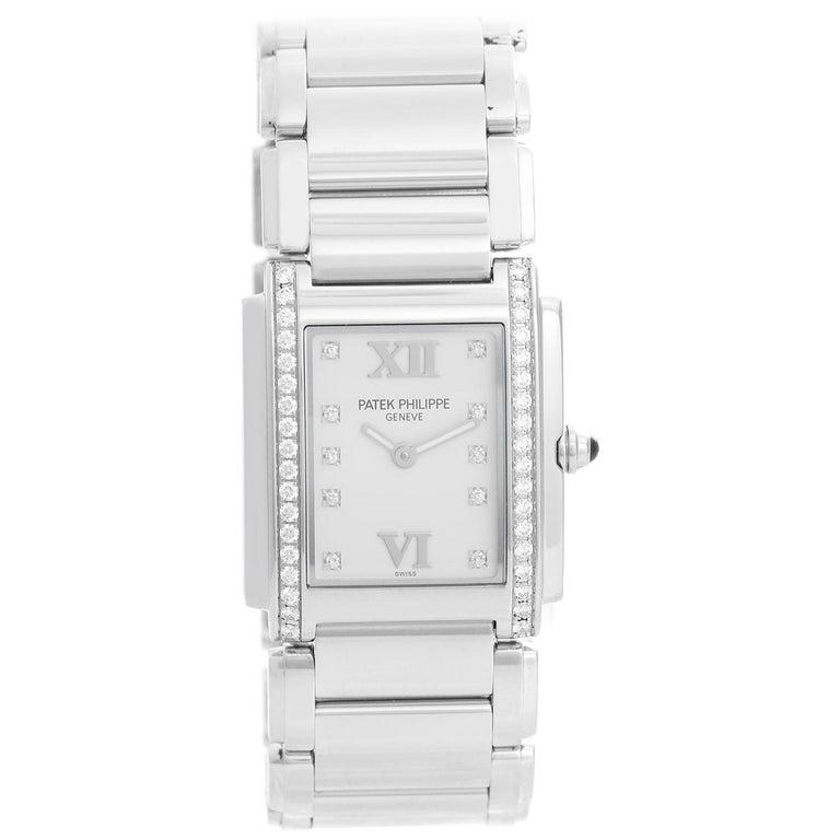 4f0febeb68c Patek Philippe Twenty-4 Ladies Steel and Diamond Watch 4910/10 For Sale
