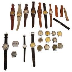 European Vintage Wristwatches Anker, Omega, Orion, Lanco Swiss, Chronometre