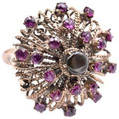 14 Karat Yellow Gold Vintage Ruby and Black Star Sapphire Ring