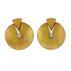 Antonio Bernardo Gold Diamond Earrings