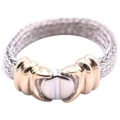 14 Karat Two-Tone Mesh Style Ring