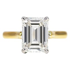 J. Birnbach GIA Certified 2.06 Carat G VS2 Emerald Cut Solitaire Ring