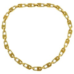 Mauboussin Yellow Gold Link Chain Necklace, 1970s French