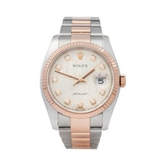 Rolex Datejust 36 Diamond Jubilee Dial Steel and Rose Gold 116231 Wristwatch