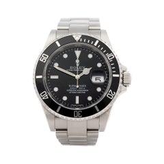 Rolex Submariner Nos Stainless Steel 16610 Wristwatch