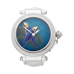 Cartier Pasha de Cartier Enamel Dial White Gold 3142L Wristwatch