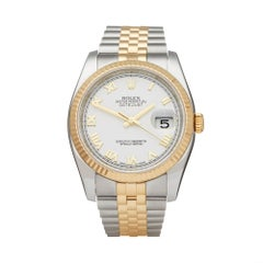 Rolex Datejust 36 Stainless Steel and 18K Yellow Gold G524258 Wristwatch