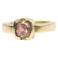 Bespoke 18 Karat Yellow Gold Pink Sapphire Ring