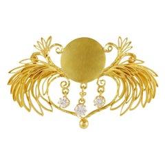 Vintage Georg Jensen 18 Karat Gold Brooch #57