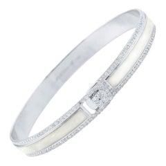 18 Karat and 1.65 Carat White Border Spectrum Gold and Diamonds Bracelet, Alessa