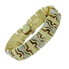 Vintage  Two-Tone Gold Link Bracelet