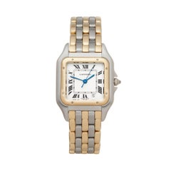 Cartier Panthere De Cartier 3 Row Stainless Steel And 18k Yellow Gold 8394 Watch