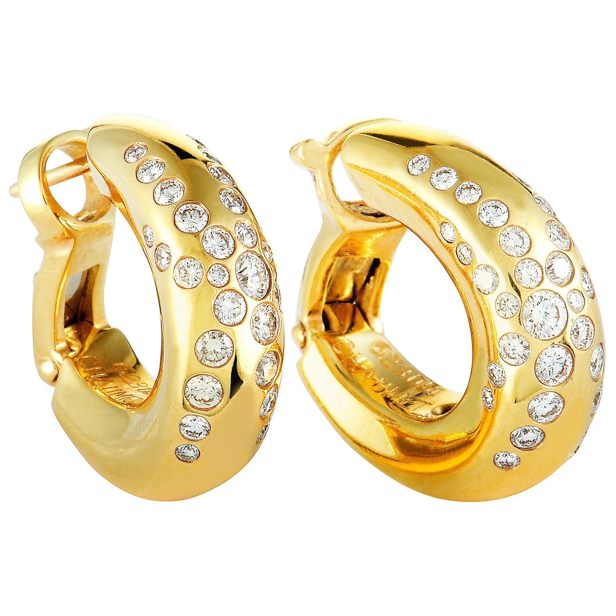 331bd59c581ff Chaumet Diamond Yellow Gold Omega Back Earrings