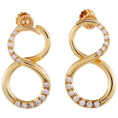 Tiffany & Co. Diamond Yellow Gold Earrings