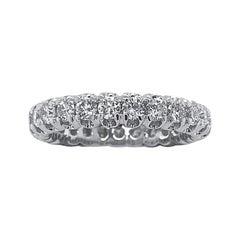 18 Karat Gold Diamond Wedding Band Ring
