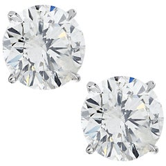 Vivid Diamonds 6.89 Carat Diamond Stud Earrings