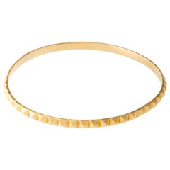 Berber Pyramid Bangle 14 Karat Solid Gold
