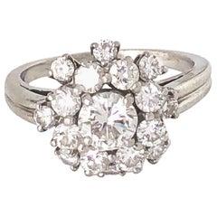 Oscar Heyman Diamond Cluster Ring, circa 1980