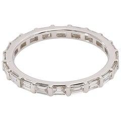 Contemporary Style 18 Karat White Gold Full Eternity Diamond Ring
