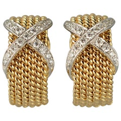 Schlumbergerr for Tiffany X Earrings with Diamonds