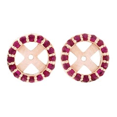 18 Karat Rose Gold and 1 Carat Ruby Cluster by Alessa Jewelry