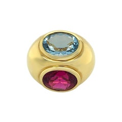 Tiffany & Co by Paloma Picasso Gold Tourmaline Aquamarine Ring