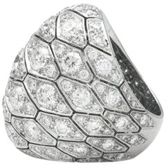 Cartier Ring, Serpentine Collection Set with Diamonds