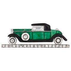 Cartier Art Deco Automobile Brooch