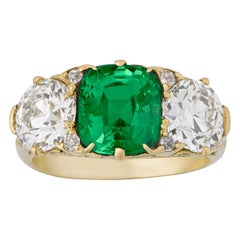 Antique Demantoid Garnet Ring, 4.50 Carat