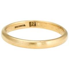 Antique Edwardian Wedding Band 1909 JE Caldwell 22 Karat Yellow Gold Jewelry