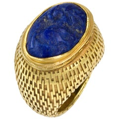 John Paul Miller Lapis Lazuli and Gold Ring