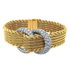 J Lacloche 18 Karat Yellow Gold and Diamond Wristwatch