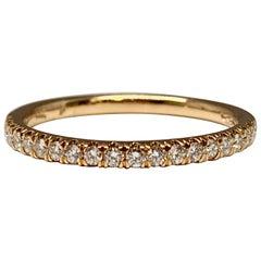 Rose Gold 0.25 Carat Diamond Pave Wedding Band