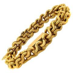 Piaget 18 Karat Yellow Gold Link Winding Back Wristwatch Bracelet