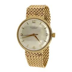 Tiffany & Co. 14 Karat Yellow Gold Vintage Wristwatch