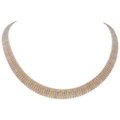 Vintage Italian 14 Karat Gold Feather Necklace