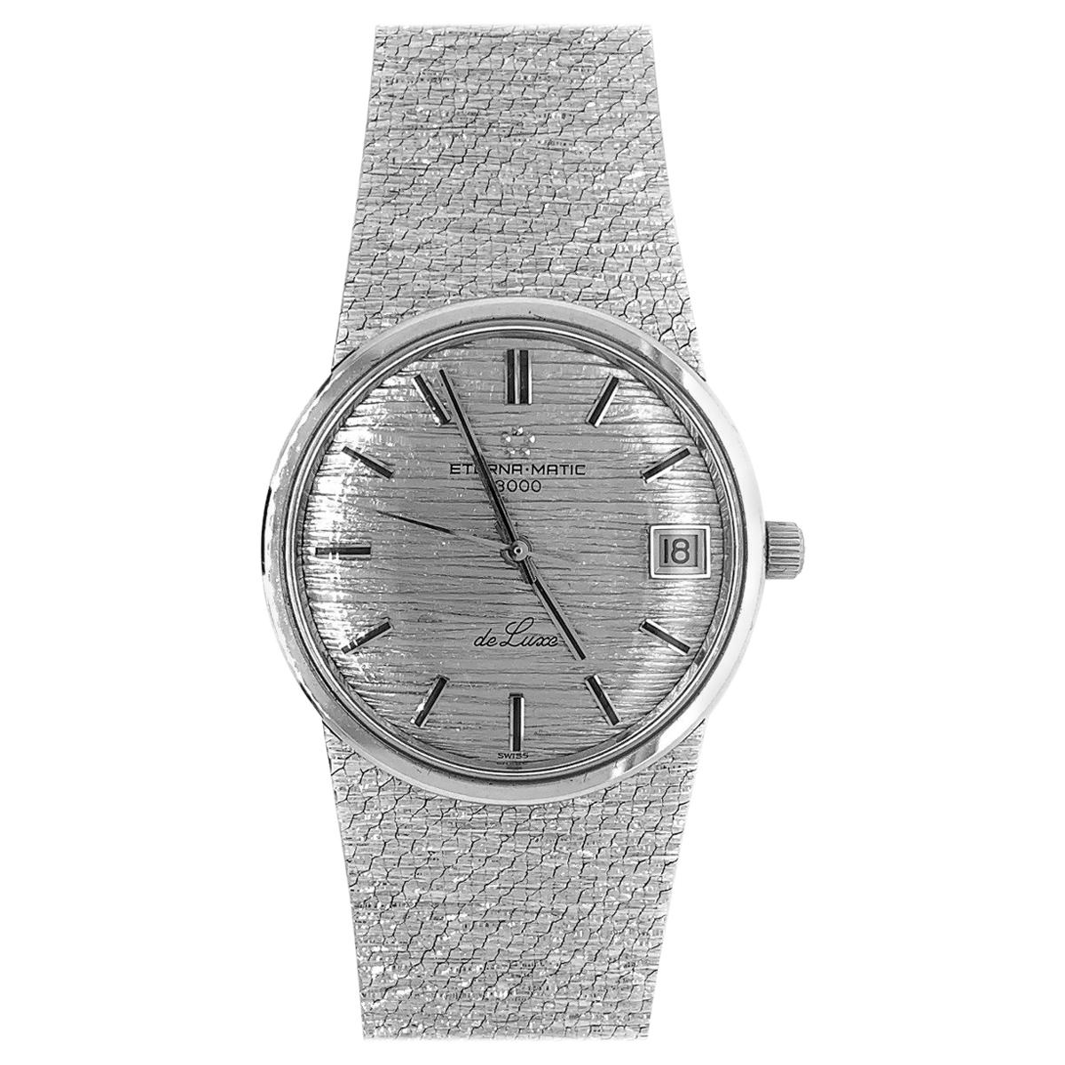 Eterna Matic 3000 18 Karat White Gold Wristwatch