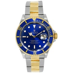 Rolex Submariner Blue Dial Stainless Steel and Gold