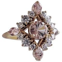 Middleton Morganite Diamond Ring