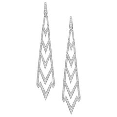 Stephen Webster's Lady Stardust 18 Karat Gold and White Diamond Pavé Earrings