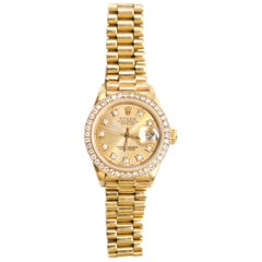 Rolex 18 Karat Diamond Oyster Perpetual Datejust Watch