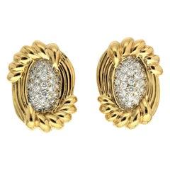 Valentin Magro Cornetto Pavé Diamond Gold Earring
