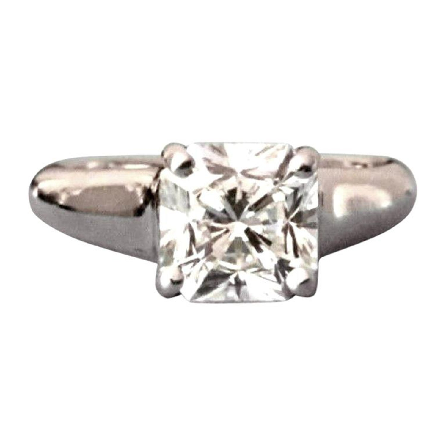Tiffany Co Cushion Cut Platinum And Diamond Ring 1 10 Carat H Vvs1