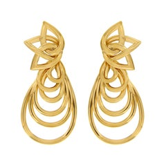 Valentin Magro Multi Pear Shaped Dangle Gold Earrings