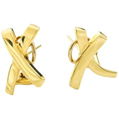 Tiffany & Co. Paloma Picasso X Earrings in 18 Karat Yellow Gold