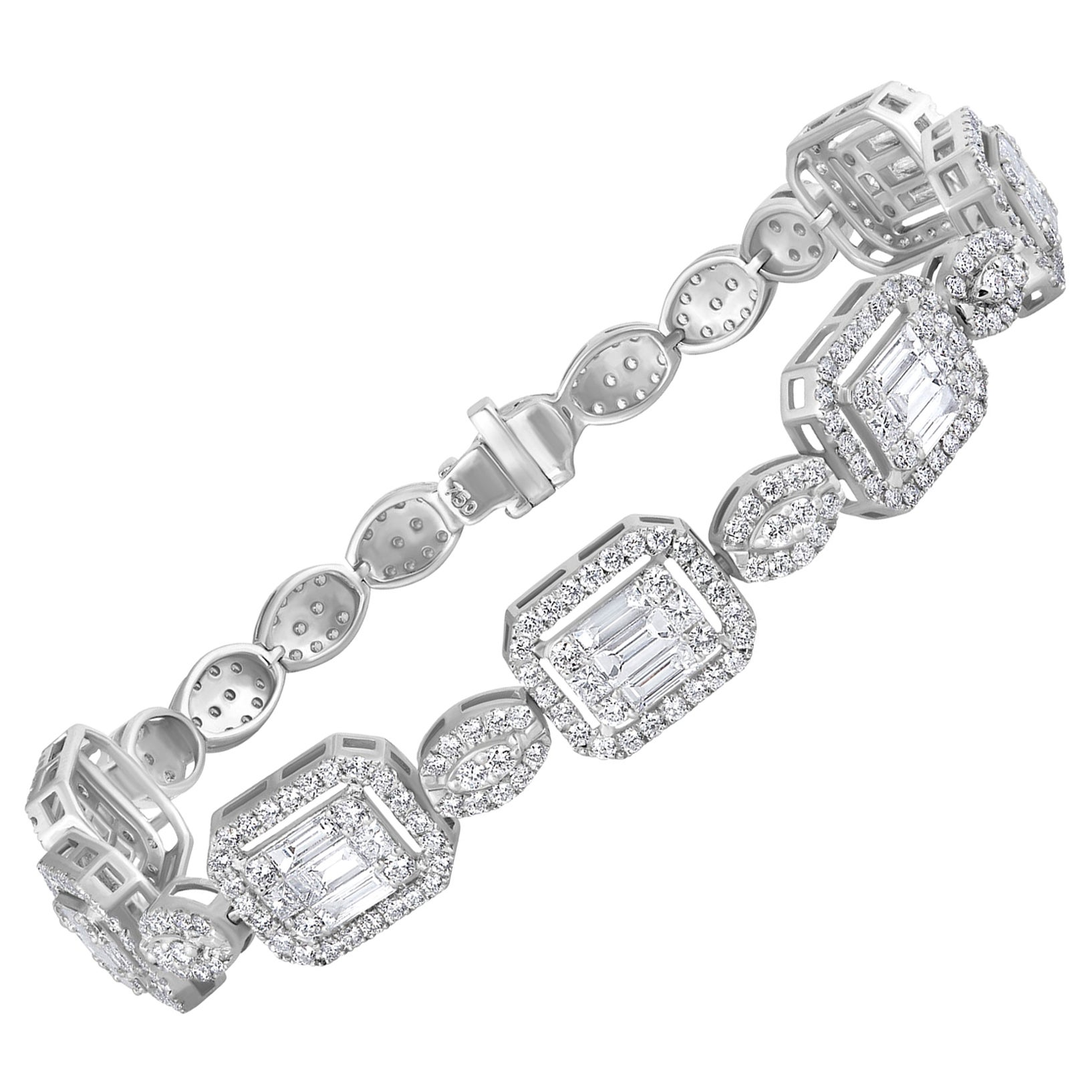 Emilio Jewelry 6.07 Carat Fancy Diamond Bracelet