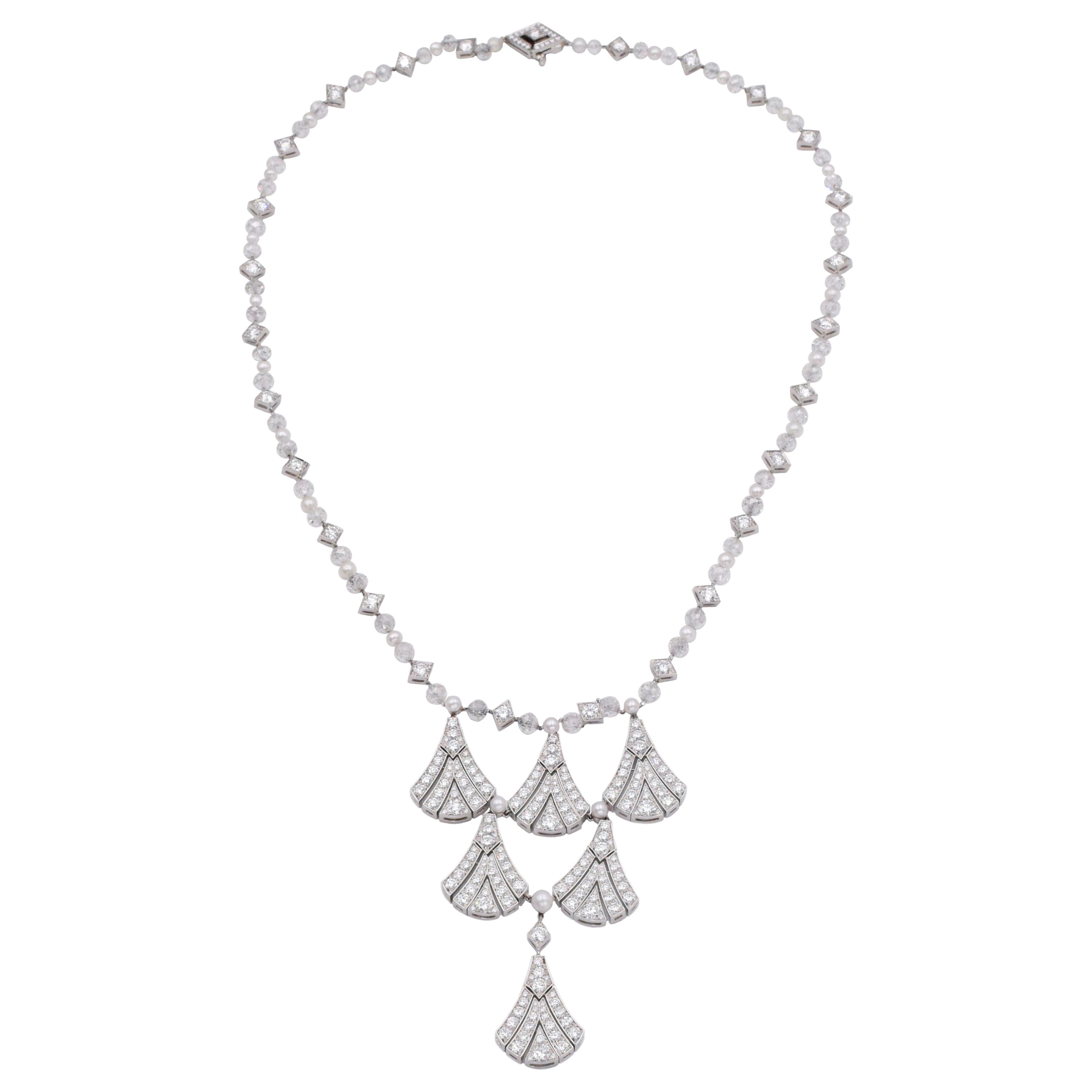 Tiffany & Co. Diamond and Pearl Necklace