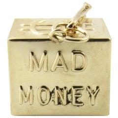 14 Karat Yellow Gold Mad Money Charm