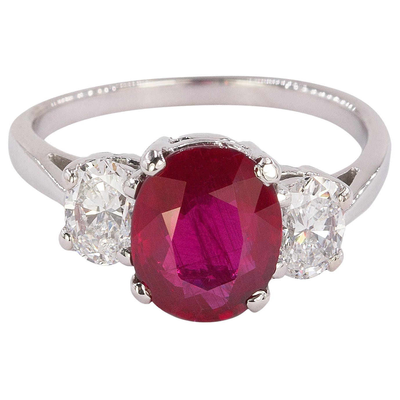 Platinum Ruby Ring